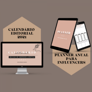 Pack Influencers 2021 + Planner para Influencers + Calendario Editorial 2021 Influencers